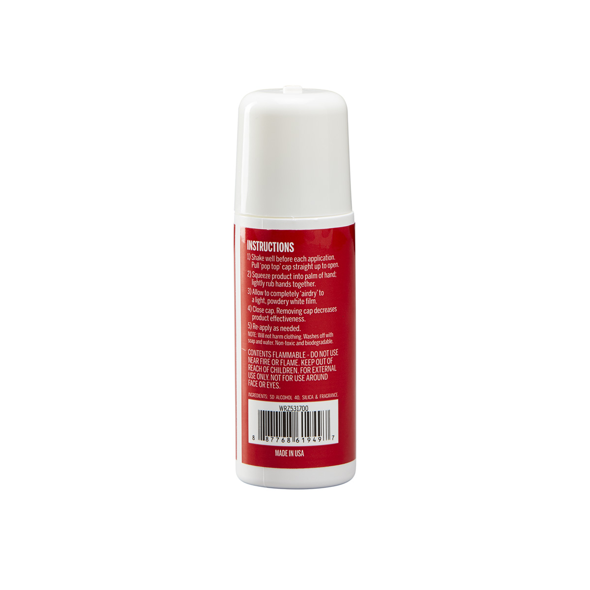 Non-sticky lotion evaporates within seconds – Keeps hands dry for improved grip